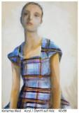 Holzfrauen-Kariertes-Kleid