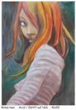 Holzfrauen-Rotes-Haar
